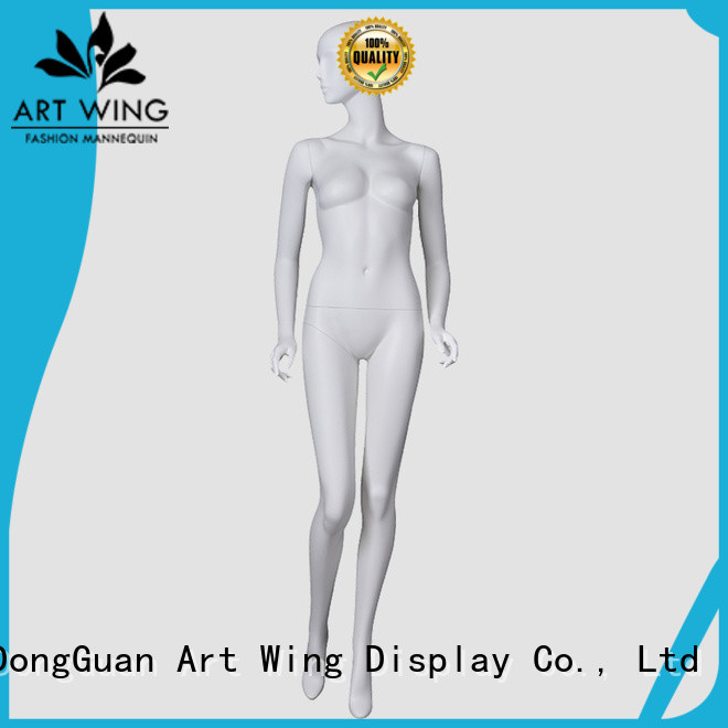 Art Wing color female plastic mannequin personalized for shrit