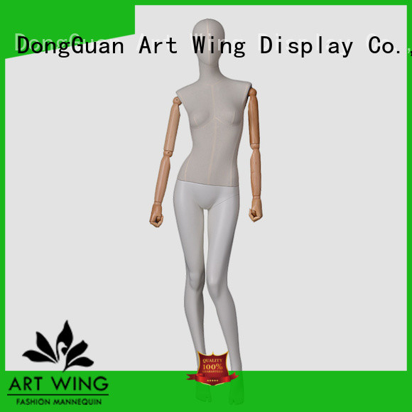 Art Wing style vintage fabric mannequin factory for clothes