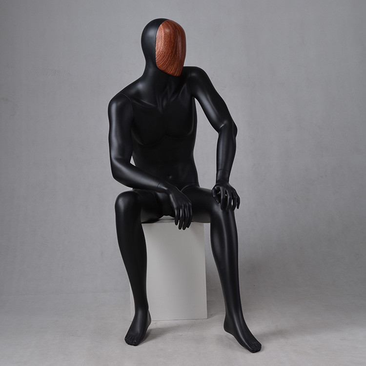 MAX-4N New design mannequin male sitting clothes dummy for sale