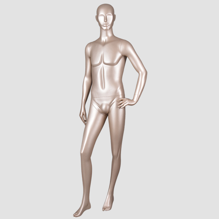 7079A Mature men full body mannequin glod color mannequins male for display