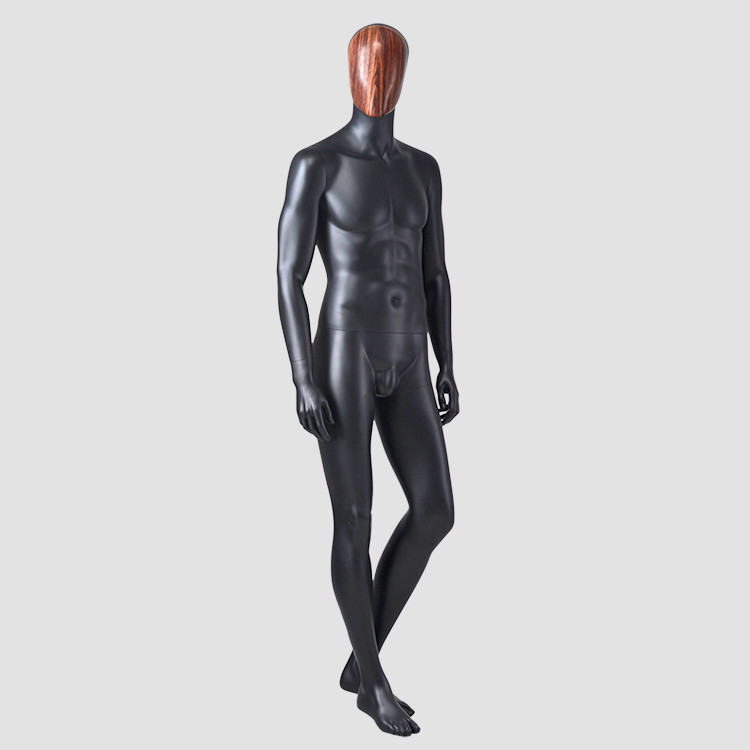 YSM-11 Standing muscle male black sports mannequin for window display