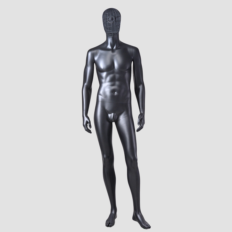 YSM-7 Standing wire mannequin full body mamnequin male with change face mask
