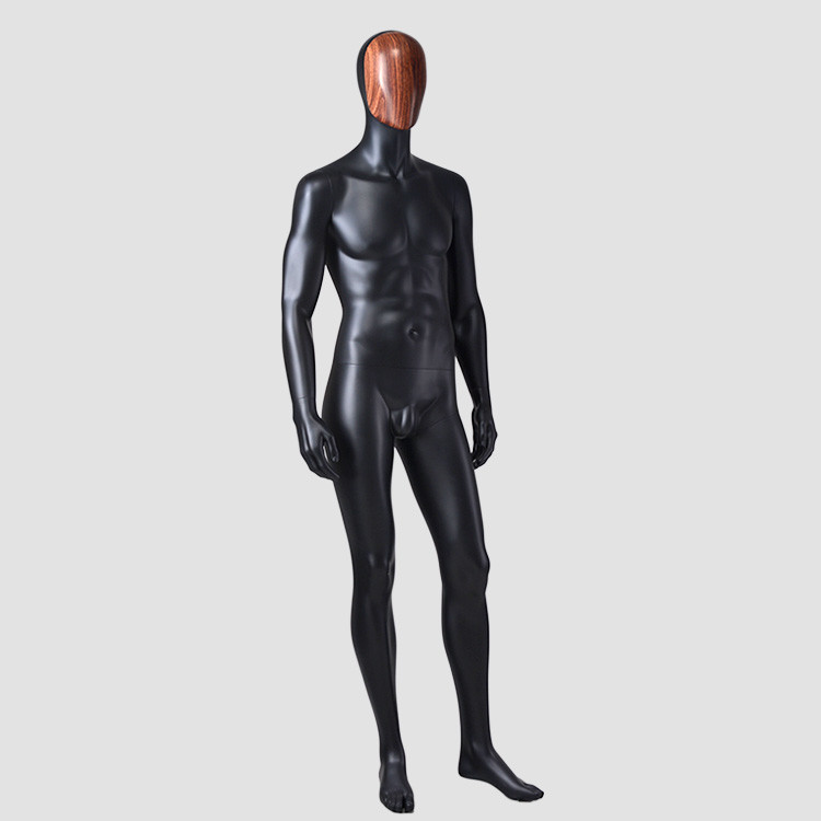 YSM-7 Standing muscle male mannequin black full body mannequin