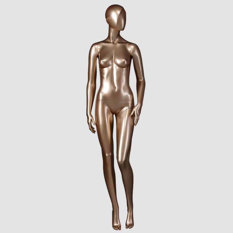 DYF-3 Fiberglass standing goden female mannequin for display