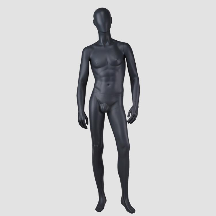 M-2201-AH Matte black male mannequin full body muscle mannequin men for business suit display