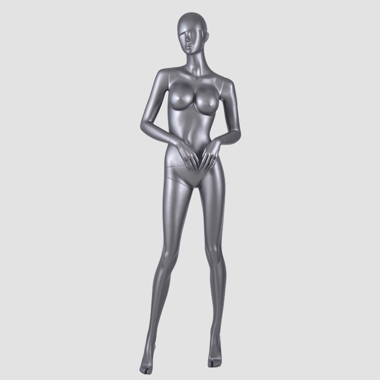 AFF-SRU-A Standing full body black female mannequin realistic women mannequin for display