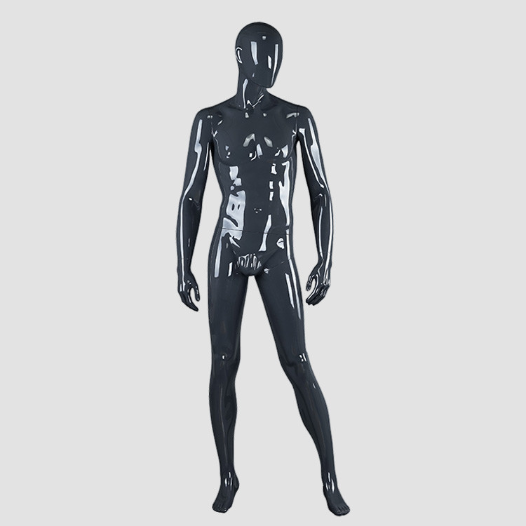 BOM-4 Glossy grey male muscle mannequin for display