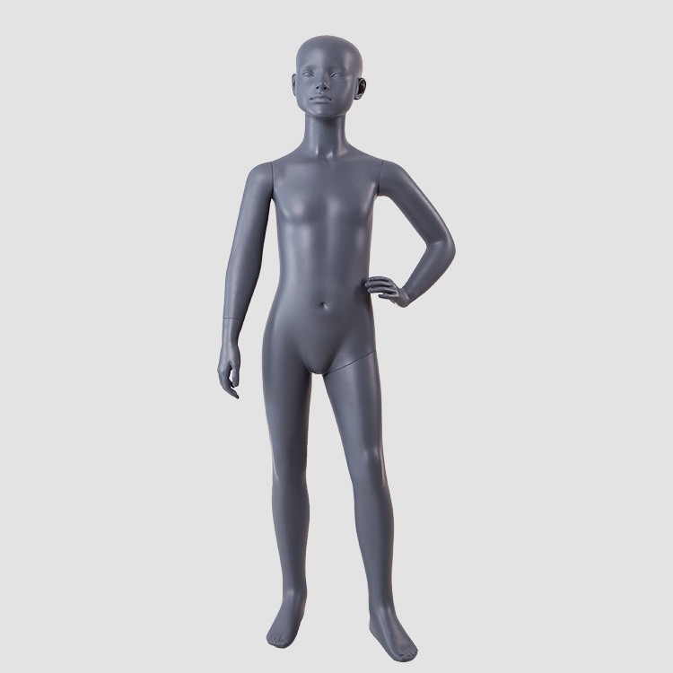 BC-KIDS-A Full body black child mannequin fiberglass dispaly mannequin