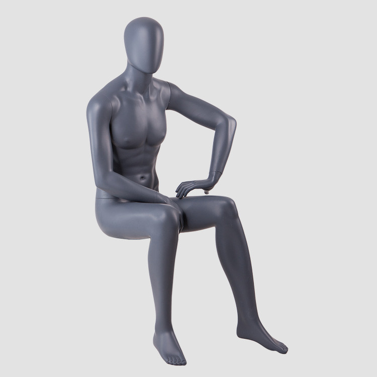 KENT-L Fiberglass sitting male mannequin adjustable for display