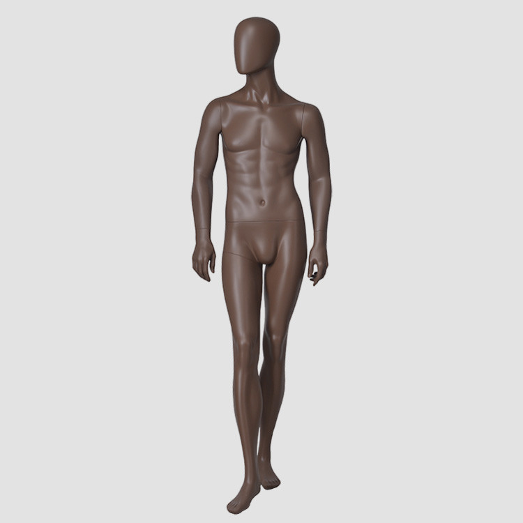 YB-3 African style standing male mannequin brown color mannequin men for display