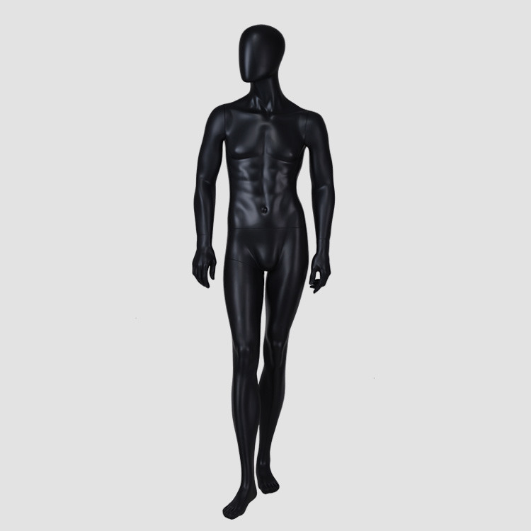 YB-3 Standing tall male mannequin full body black mannequin dummy