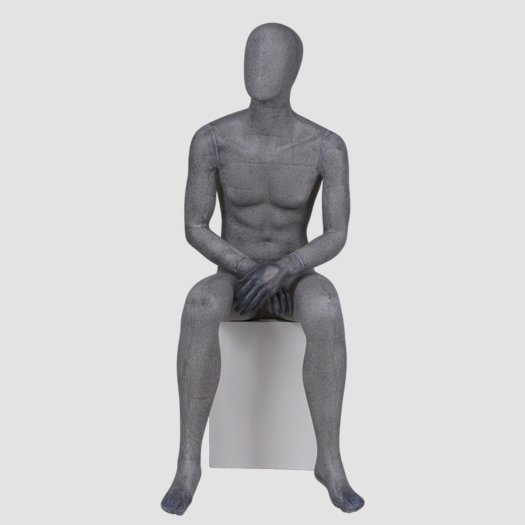 YB-4 Wholesale full body male display mannequins resin color black mannequin
