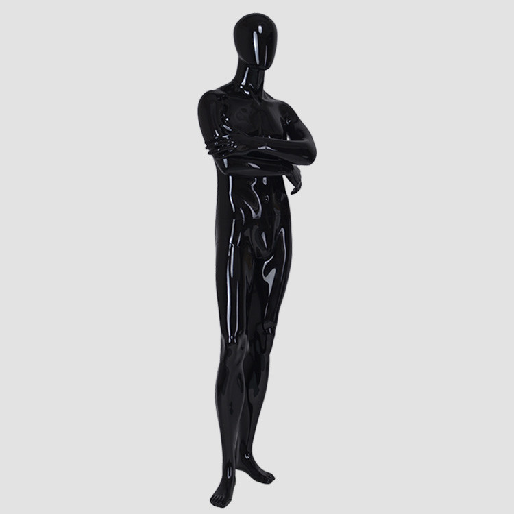 YB-6 Black clothing display male dummy full body fiberglass male mannequin