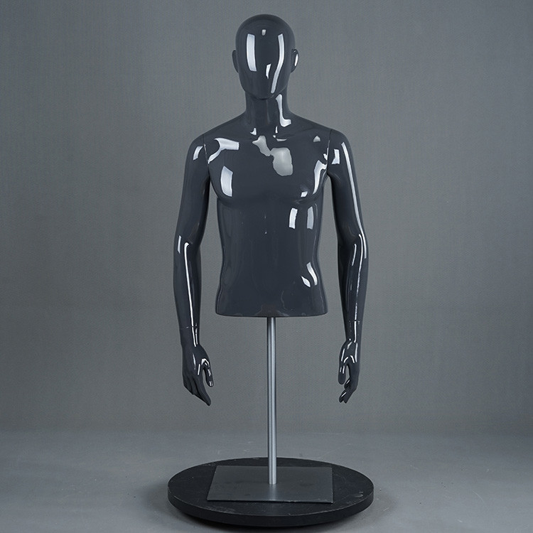 RM-E Upper body mannequin male half body torso with stand