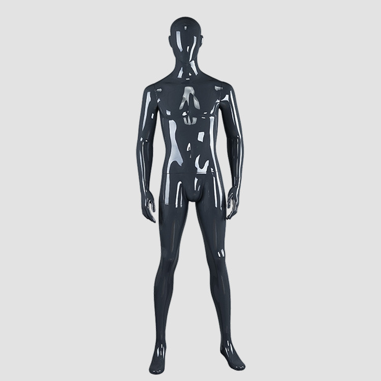 RNM-4 Glossy grey black male mannequin for sale