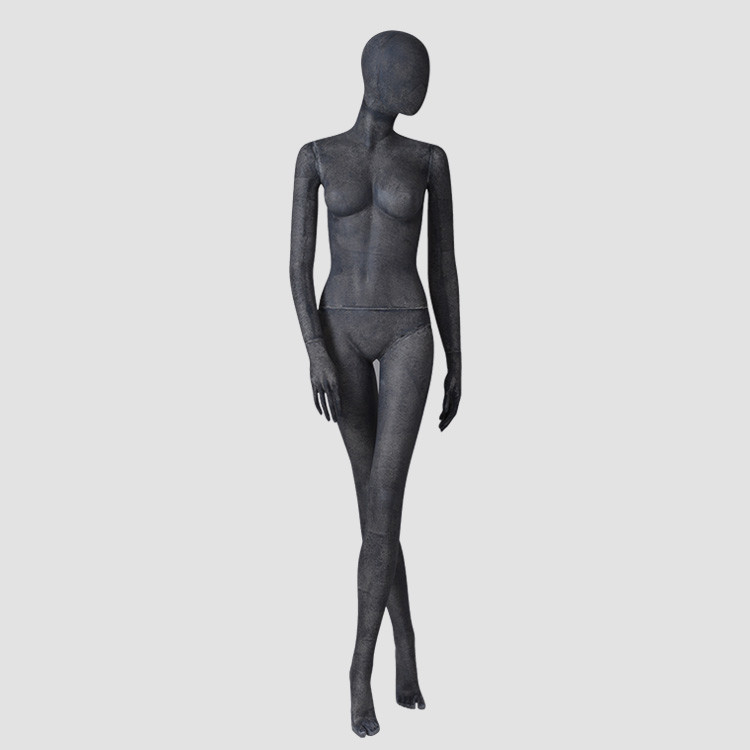 MPF03 Vintage black resin color female fashion mannequin full body for clothes display