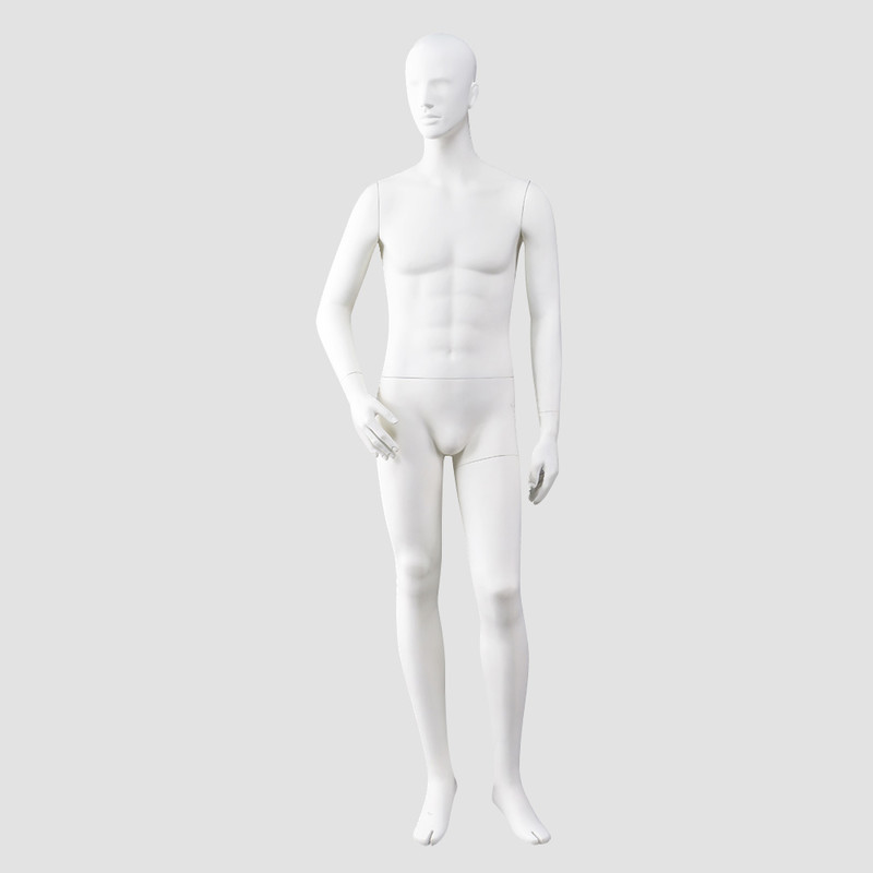 MKHF-5 Full body maniquies men likelife muscle matte white standing male mannequin