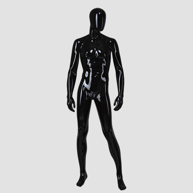 M-2204 Full size male mannequin body black color muscle mannequin