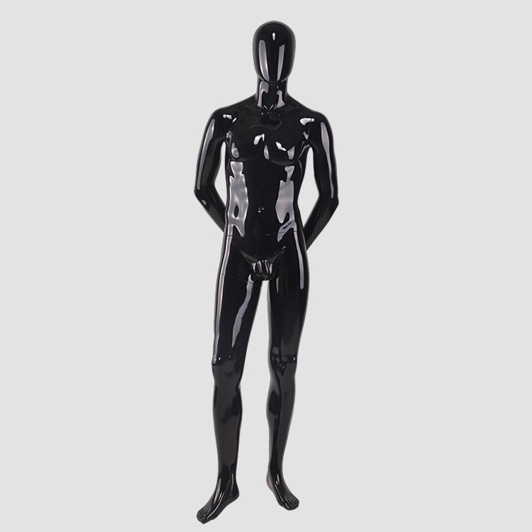 M2203 Standing man mannequin glossy black maniquies male