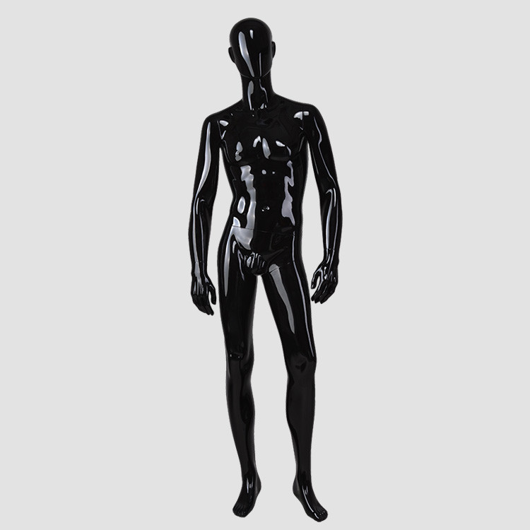 M-2201- KB-A Muscle male black brazilian mannequin for shopping store display