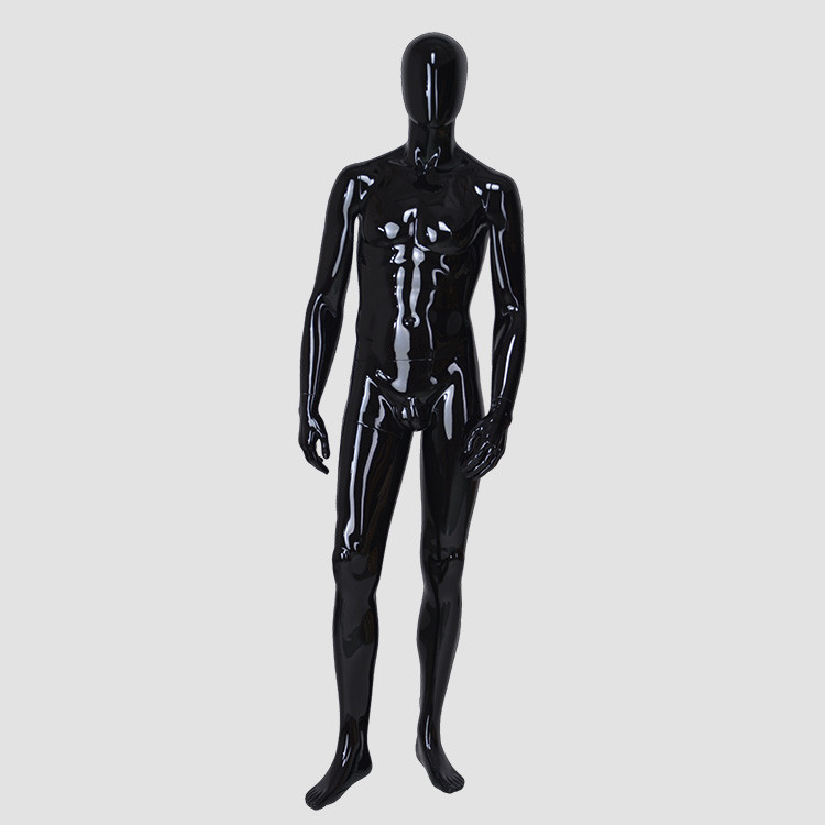 M-2205 Standing black mannequin men full body military mannequin