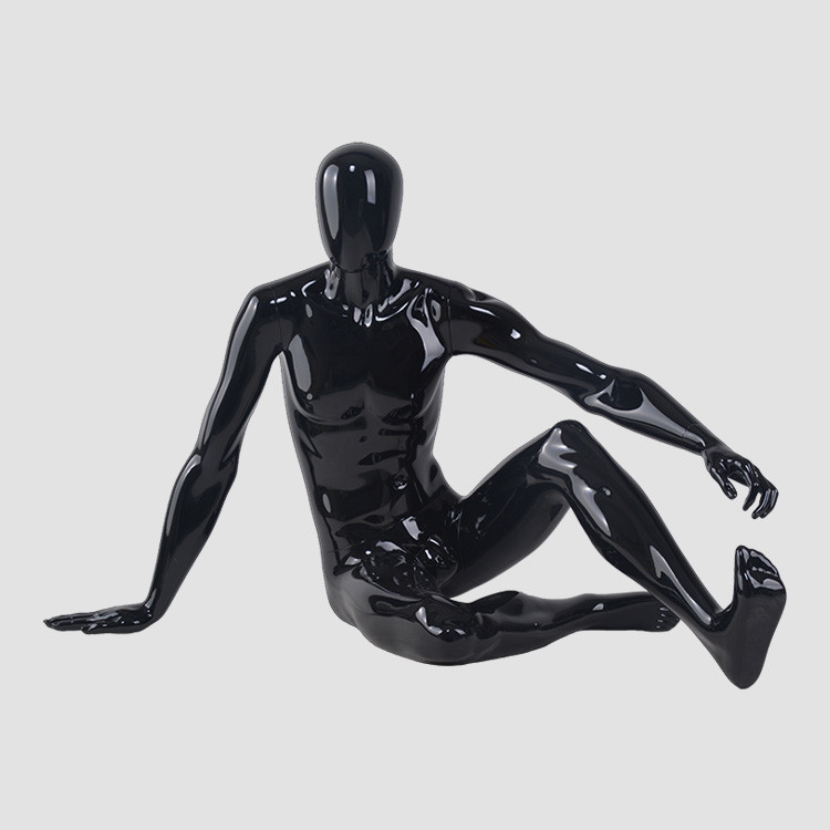 M3403 Fashion fiberglass sitting male mannequin for shop display