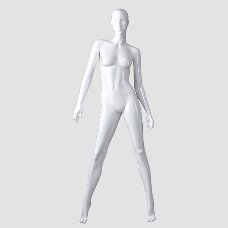 KF-06 Fashion glossy white color mannequin female full body for clothes