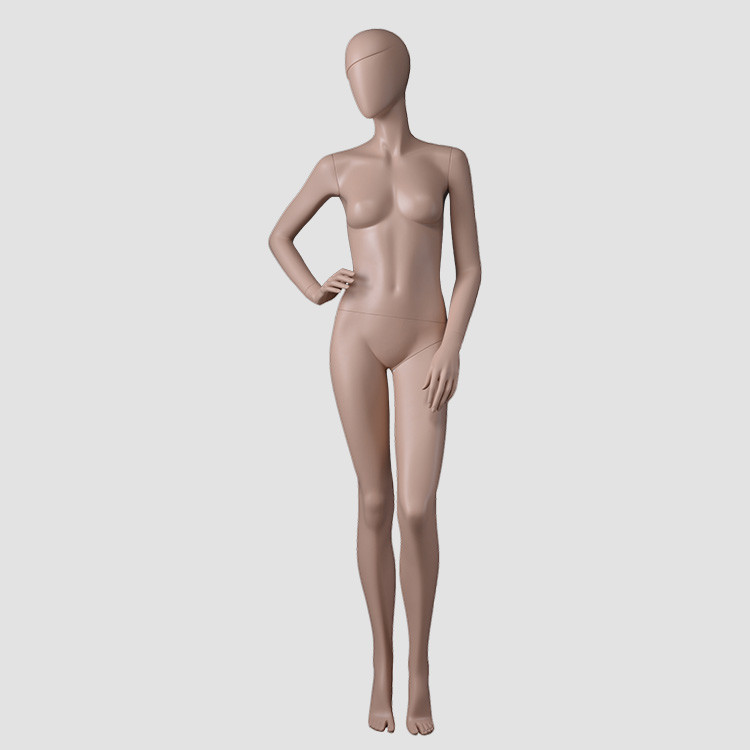 KF-10 Skin color female mannequin for clothes display