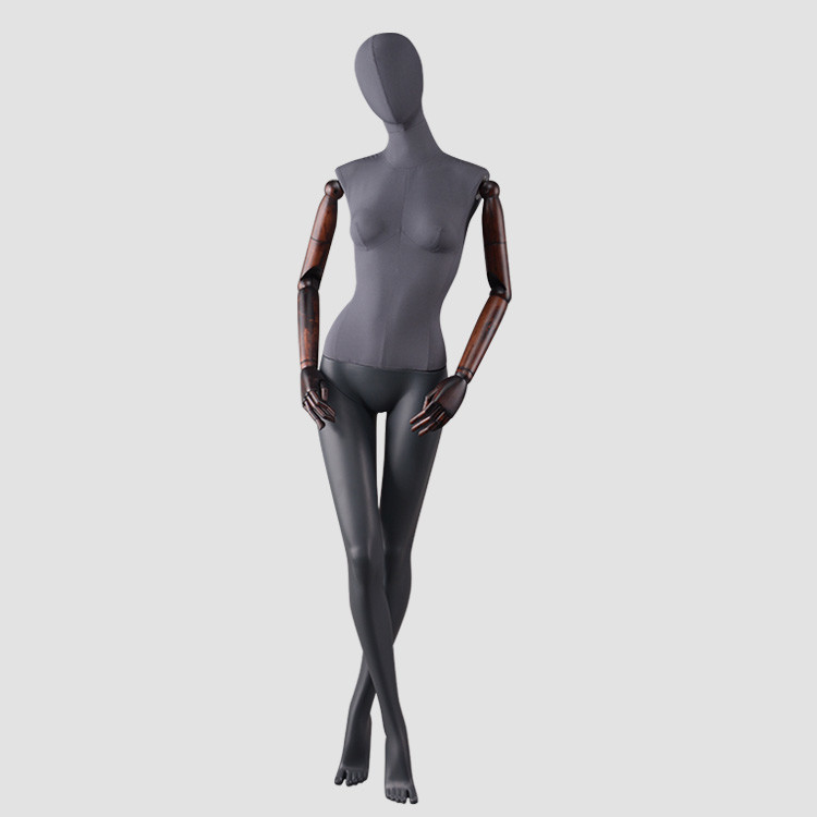 F-2202-AH Lifelike stand FRP mannequin female for window display