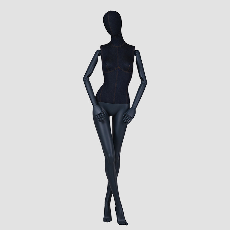 F-2202-AH New style window display full body female mannequin black dress form dummy