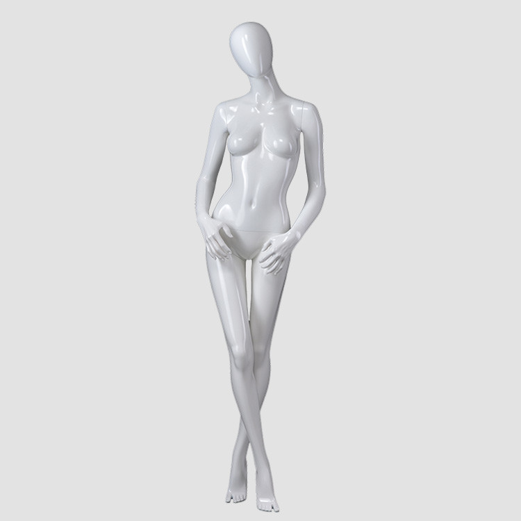 F-2202-AH Fashion likelife  looking female mannequins glossy white standing