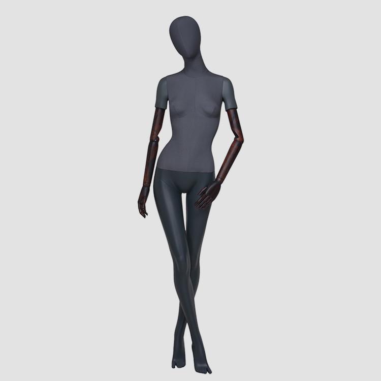 F-2202-AH Elegant full body black female mannequin fashion shop mannequins
