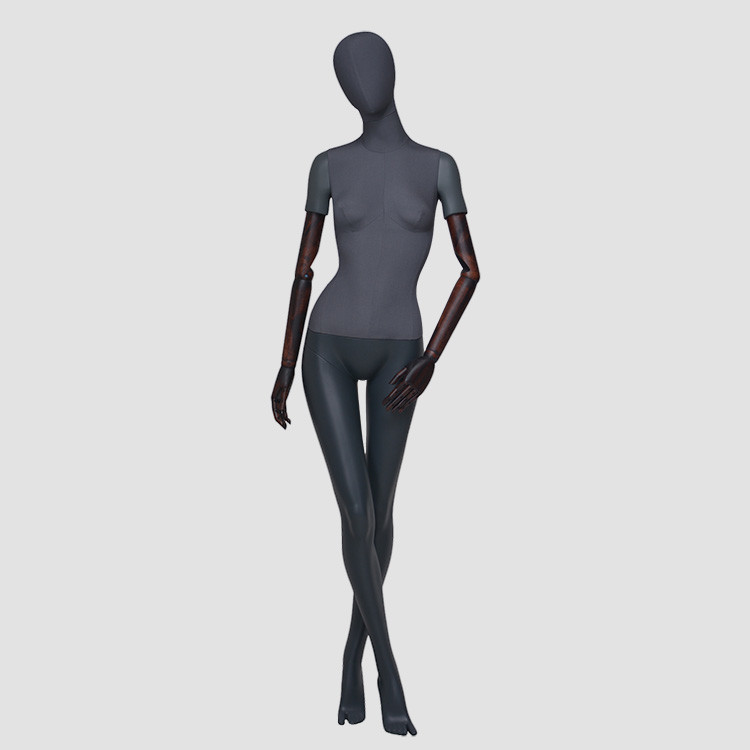 F-2202-AH Elegant full body black female mannequin fashion shop mannequins