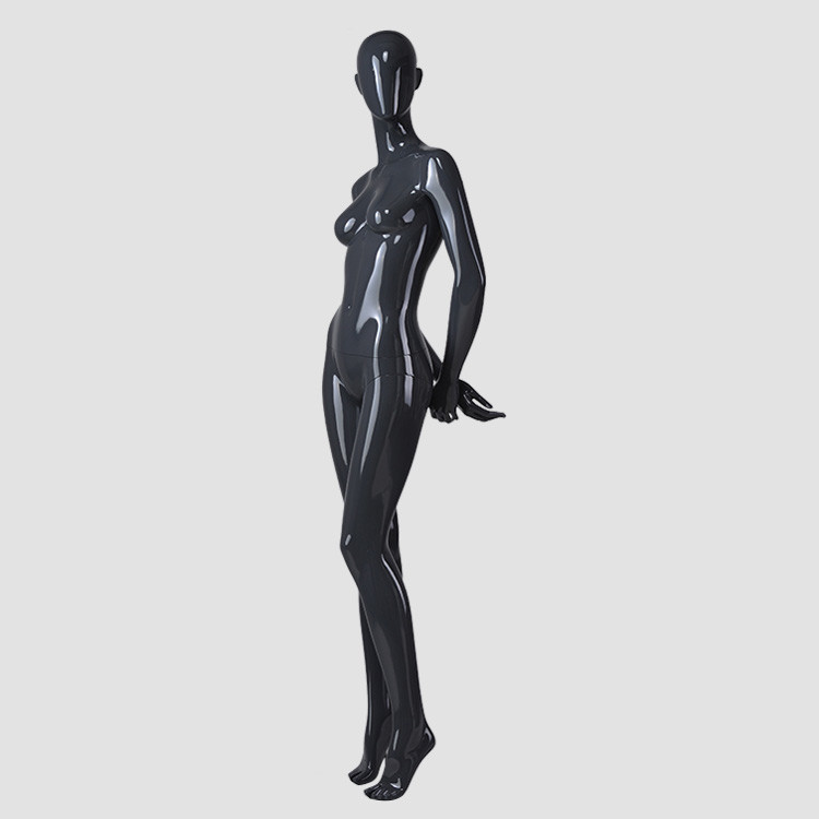 F-2203-AH Glossy black female mannequin full body model perfect sex mannequin girl