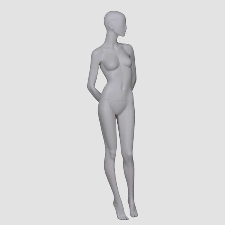 F-2203-AH Standing white female model for T-shirt display mannequins