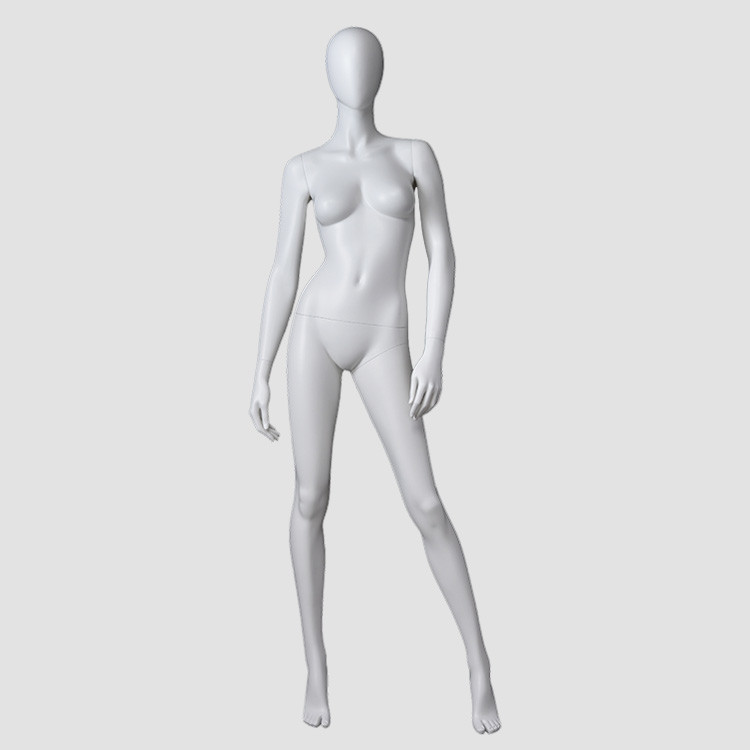 F-2204-AH Matte white color fashion female standing mannequin