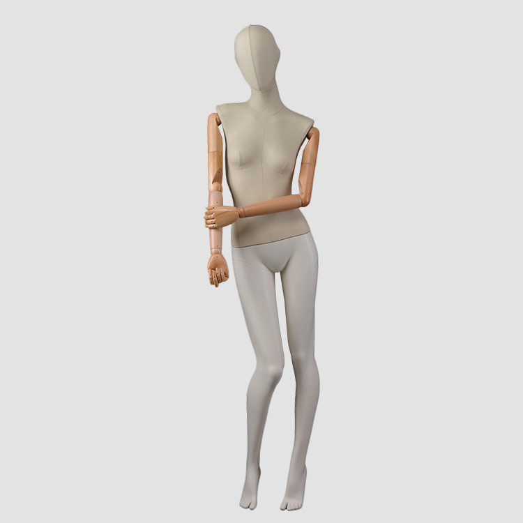 F-2205-AH Western fashion dummy fiberglass  fabric wrapped mannequin female full body