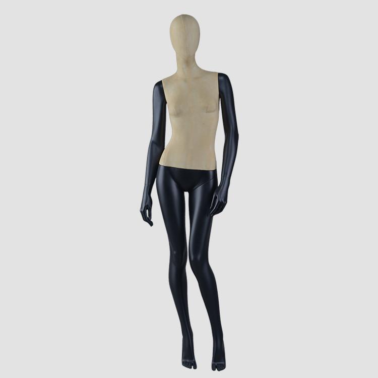 F-2206-AH Black fiberglass female eco-friendly mannequin fashion body woman mannequin