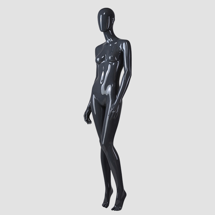 F-2206-AH South Afrircan style glossy black female mannequin for clothes display