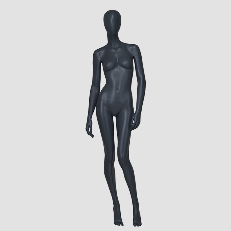 F-2206-AH African style matte balk female mannequin display paint nano