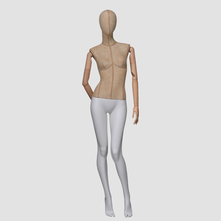 F-2206 Adjustable full body female mannequin with wodden hands
