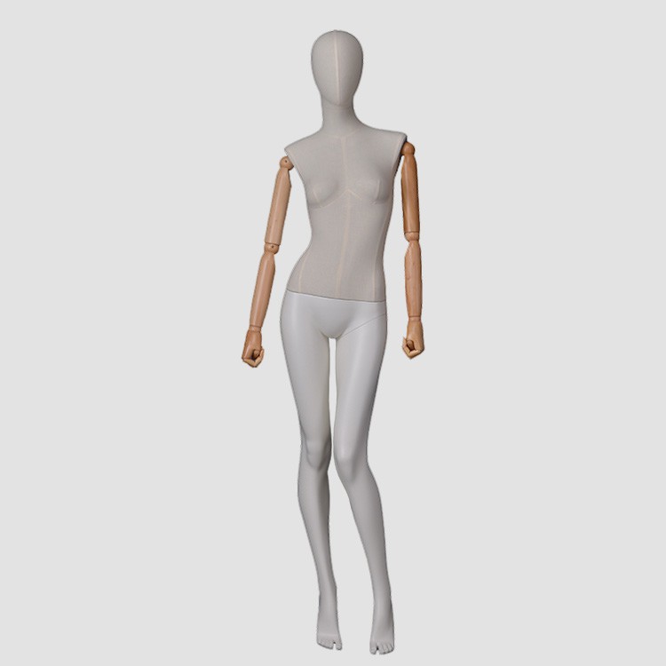 F-2206 Female dress form mannequin fabric wrapped full body dummy