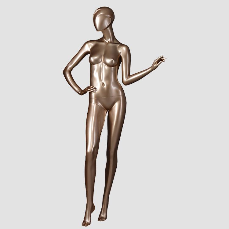 DYF-5 Full figured glossy golden mannequins female shop display mannequin