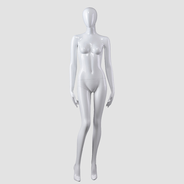 CX-7 High glossy mannequins female white standing grament mannequin