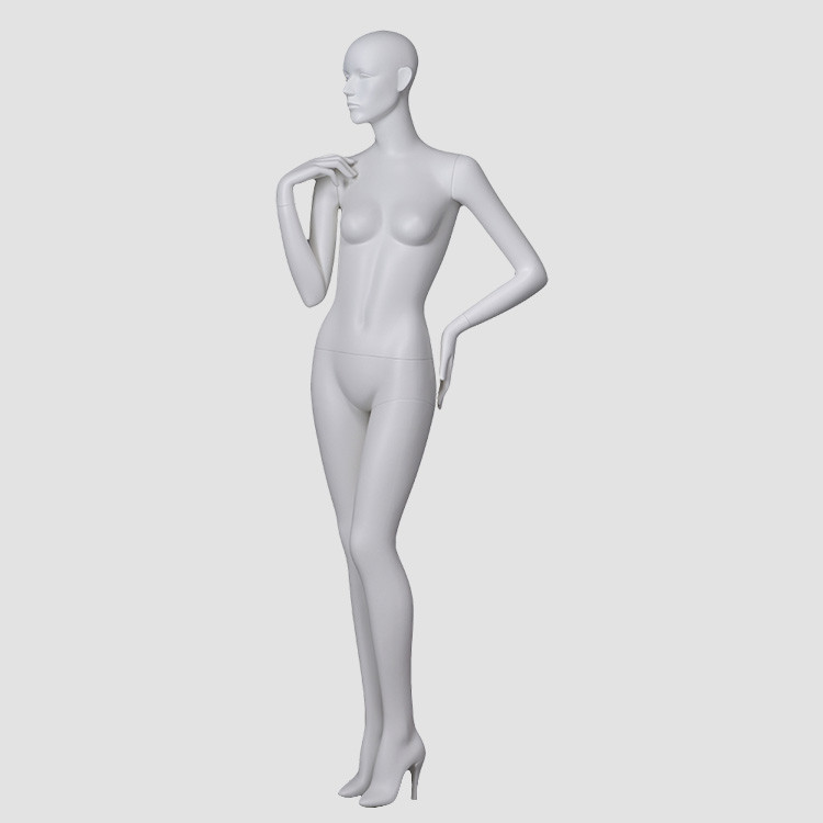 CX-8 Euro style lady mannequin full body  matte white mannequin
