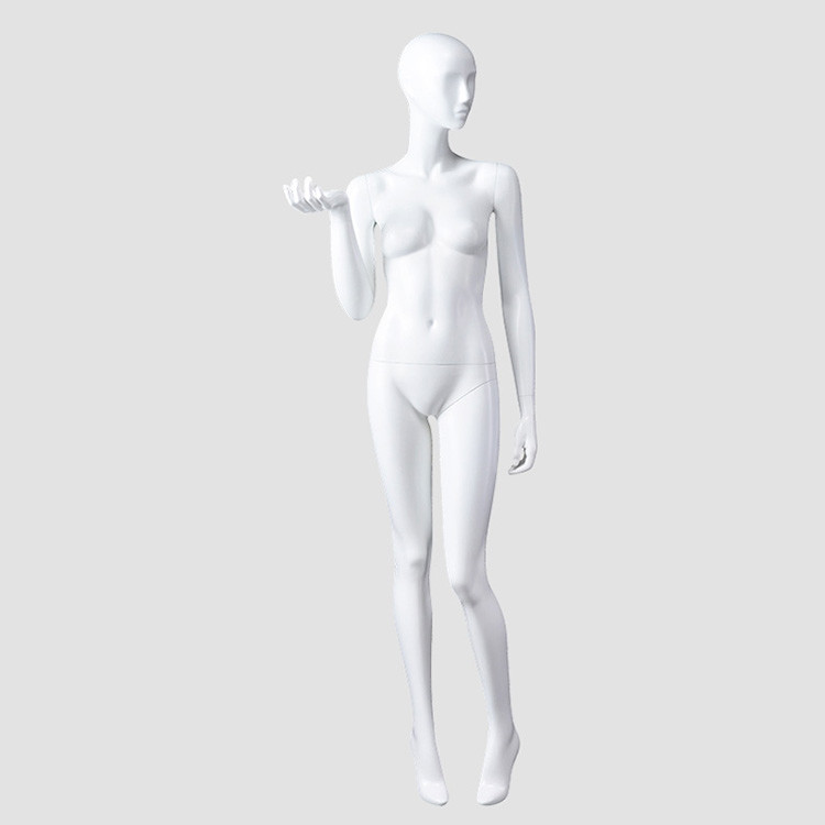 BW-6 Clothes display standing female fiberglass mannequin