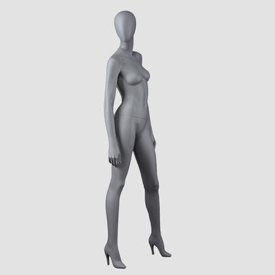BW-2 Vintage style grey color female clothing display mannequin