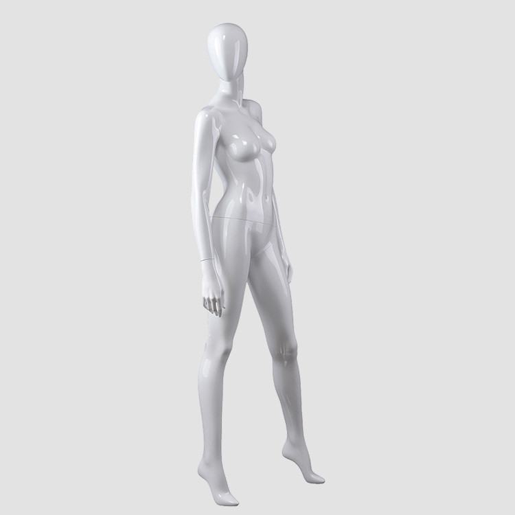 BW-2 High quality glossy white female dress mannequin