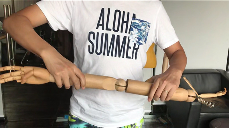 How to assemble a wooden hand for a mannquin