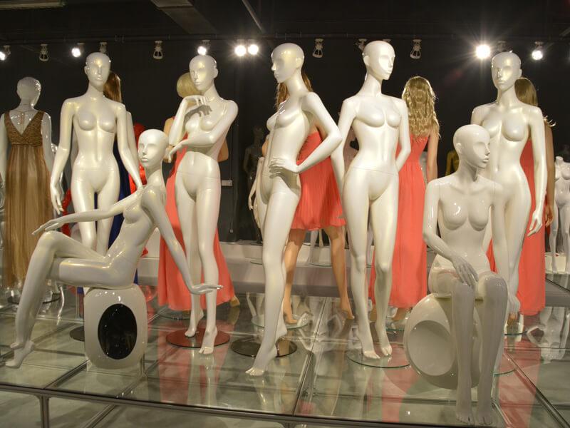 Glossy white female mannequin